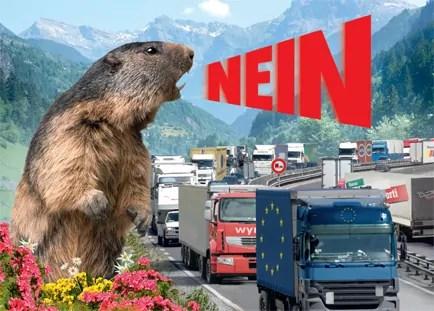 Postkarte zur Alpeninitiative; Quelle: