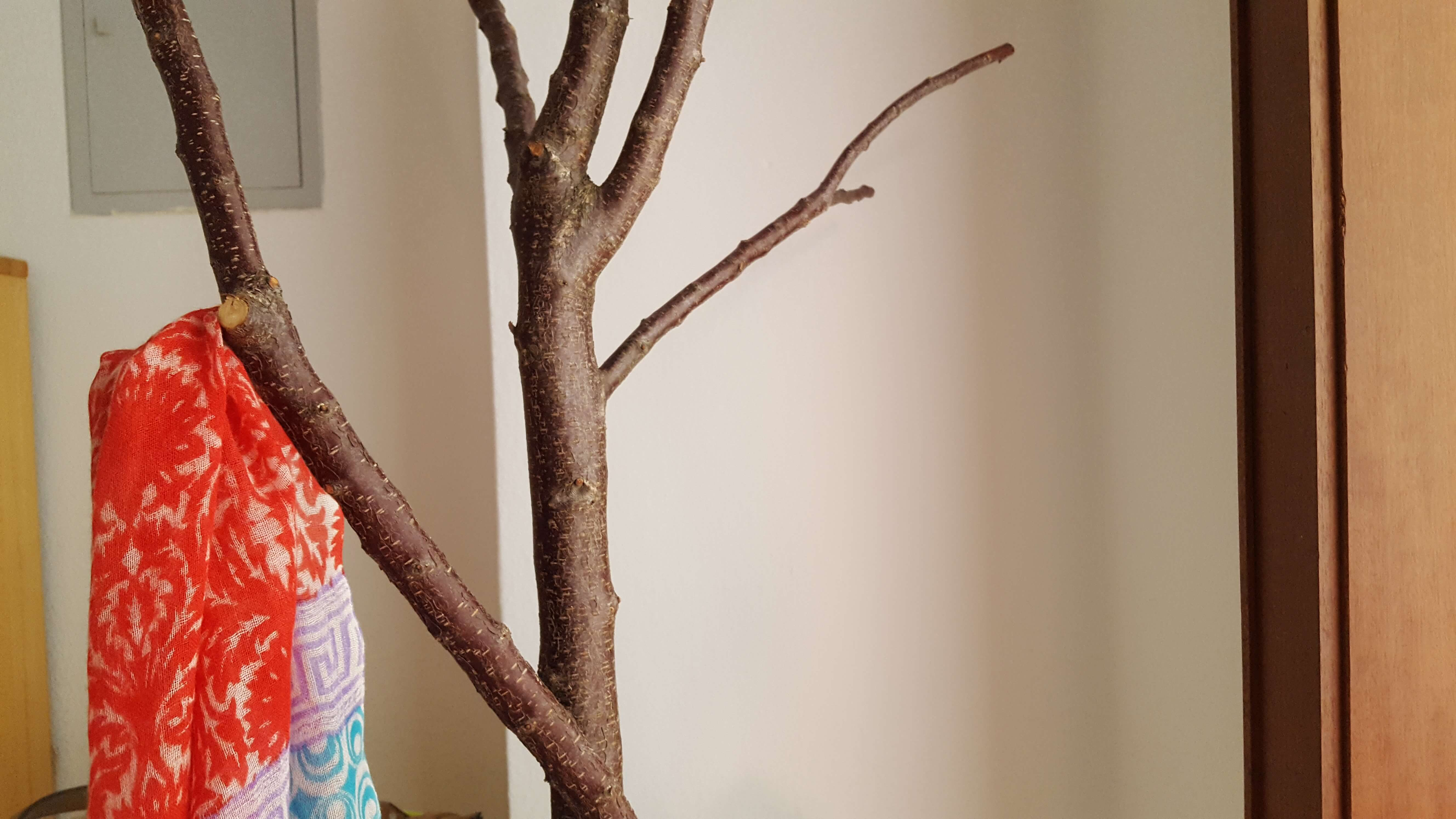 Wandtattoo Baum Mit Haken Wandgarderobe Metall Schwarz Baum 130cm