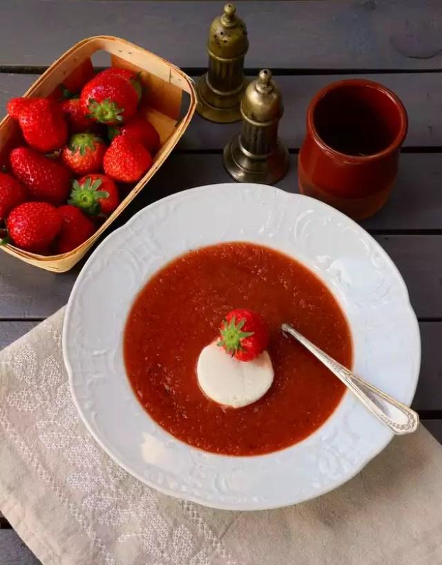 Erdbeer-Gazpacho