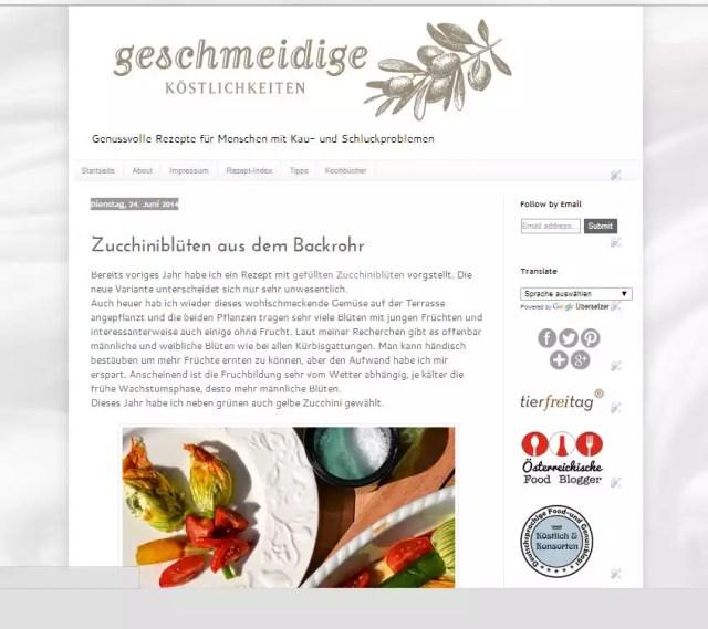 Geschmeidige Köstlichkeiten Zucchiniblüten aus dem Backrohr - Google Chrome 01.07.2014 121822