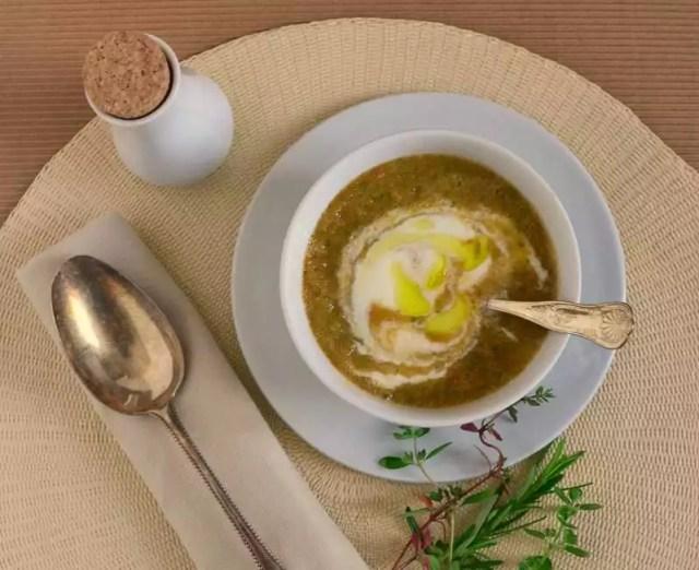 kalte Suppe Tomaten Gurke Paprika