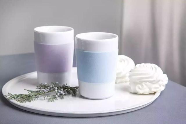 Kahla Porzellan weiße Trinkbecher