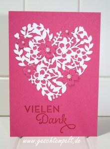 Stampin up, Blüten der Liebe, Blühendes Herz, Hochzeit, Einladung, Wedding, Invitation, von großer Bedeutung