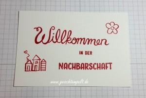 Stampin, Graffiti Technik, Graffiti Technique, Anleitung in Bildern, Tutorial, Herzlich Willkommen, Gorgeous Grunge, Ziegel