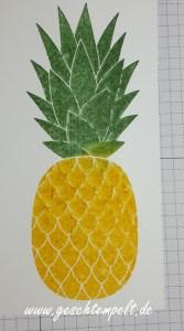 Stampin up, Pineapple, Stempel besprühen, Anleitung in Bildern, Tutorial, Technik Sonntag, Zum Dank, Thankful Thoughts