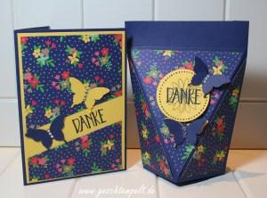 Stampin up, Muster für Dich, perfekt verpackt, selbstschließende Box, Schmetterling