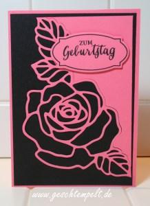 Stampin up, Rosengarten, Bannerweise Grüße, Zierschachtel für Andenken