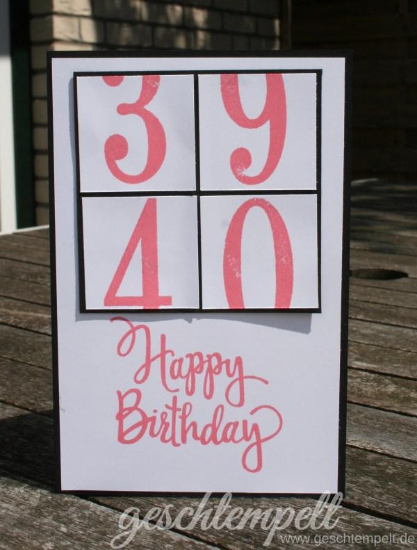 Stampin up, Stylized Birthday, So viele Jahre, 40. Geburtstag, Number of Years