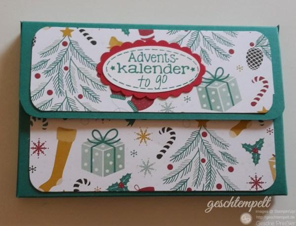 Stampin Up, Adventskalender to go, smaragdgrün, Weihnachten, es weihnachtet sehr