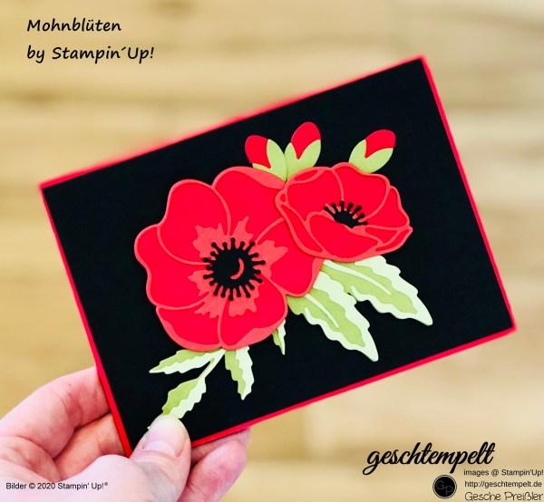 Fancy Fold Card - Mohnblüten - W-Fold Card - eine Anleitung mit den ,Produkten von Stampin´UP!
