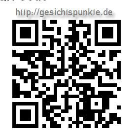 QR-Barcode http://gesichtspunkte.de - mit App auf Smartphone lesen und öffnen!