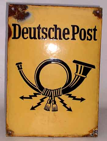 Schild Deutsche Post