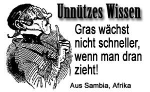 Unnützes Wissen - Gras....