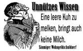 Unnützes Wissen: Leere Kühe melken (quelle: gotthal.de)