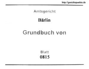 Grundbuchblatt