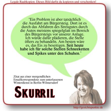 Skurril: Schneeketten & Spikes