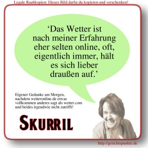 Skurril: Wetter-Onlinedienste