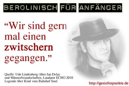 Berolinisch: Udo Lindenberg über Jan Delay