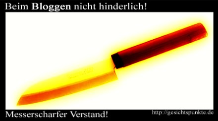 Messerscharfer Verstand - Beim Bloggen nicht hinderlich!