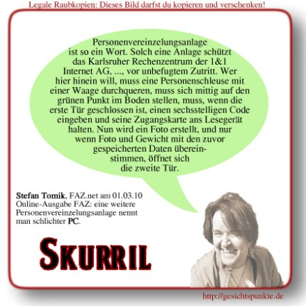 Skurril: Personenvereinzelungsanlage