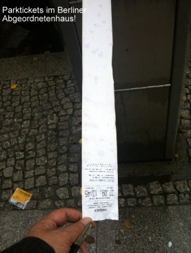 Parktickets (long version) @Abgeordnetenhaus