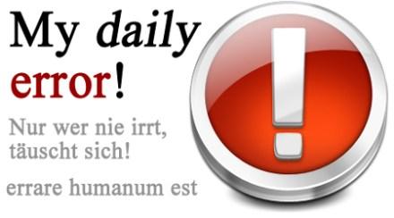"""Banner """"my daily error"""""""