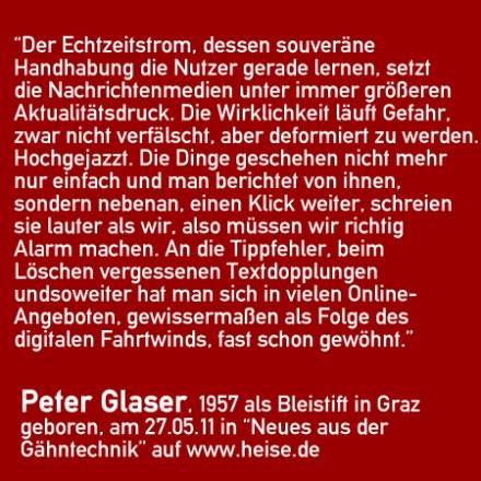 Echtzeitstrom - Peter Glaser, Zitat