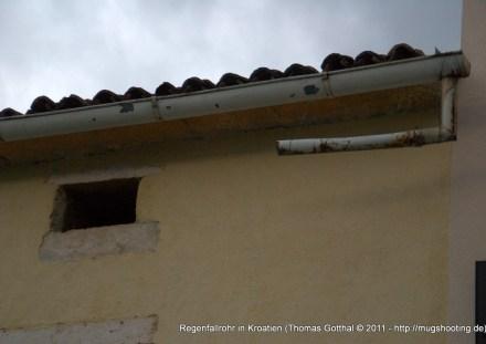 Regenfallrohr in Kroatien - Sonderkonstruktion