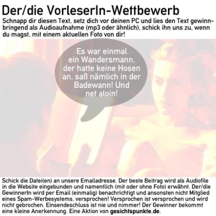 Banner VorleserIn-Wettbewerb