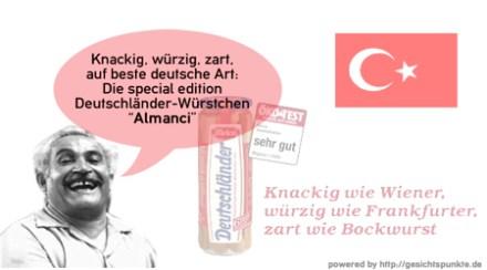 """Deutschländer Würstchen """"Almanci"""""""