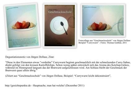 """Collage """"Currywurst leicht dekonstruiert"""" - Jürgen Dollase, """"Geschmacksschule"""""""