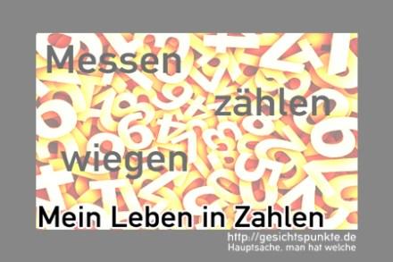 """Banner """"Mein Leben in Zahlen"""""""