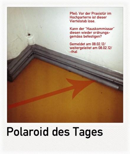 """Polaroid des Tages """"Der Viertelstab"""""""
