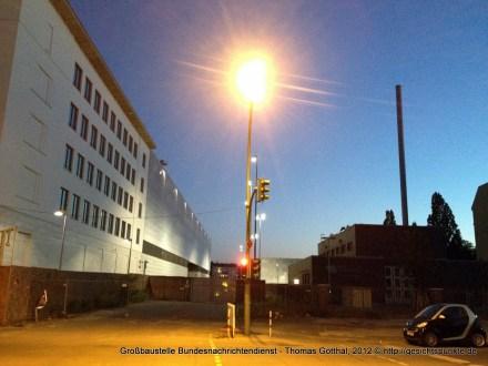 Berlin-Mitte, Chausseestr.: Großbaustelle Bundesnachrichtendienst