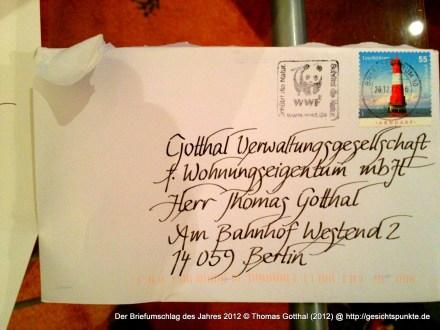 Der Briefumschlag des Jahres 2012