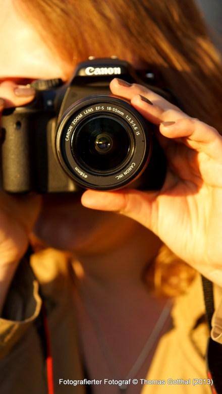 Fotografierter Fotograf