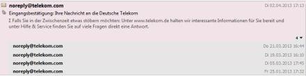 """Unternehmen Telekom - Benachrichtigungsemails zum """"Stöbern"""""""
