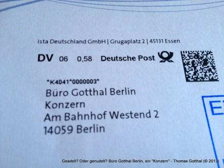 "Geadelt? Oder genudelt? Büro Gotthal Berlin, ein ""Konzern"""