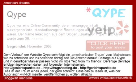 American Dreams: Qype goes Yelp