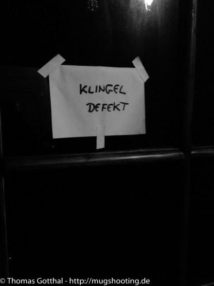 """Klingel defekt"""
