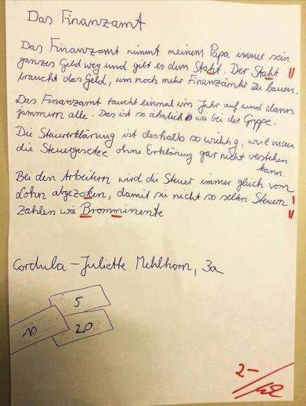 Das Finanzamt (Brief, Quelle: unbekannt)
