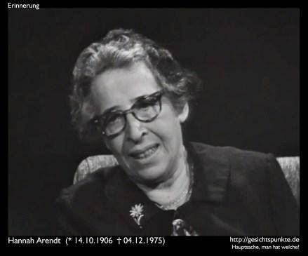 Erinnerung: Hannah Arendt