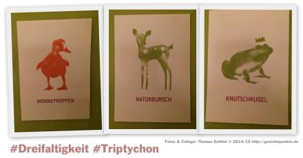 """Collage """"Triptychon"""" der #Dreifaltigkeit"""