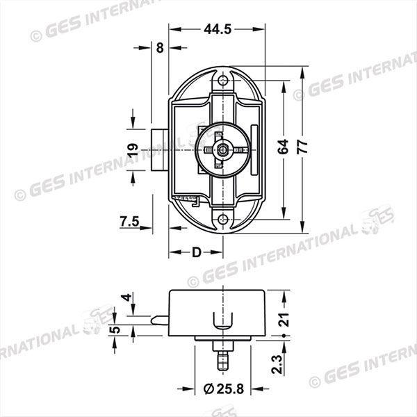 Ges International S.r.l.. Push-Lock unilateral brown