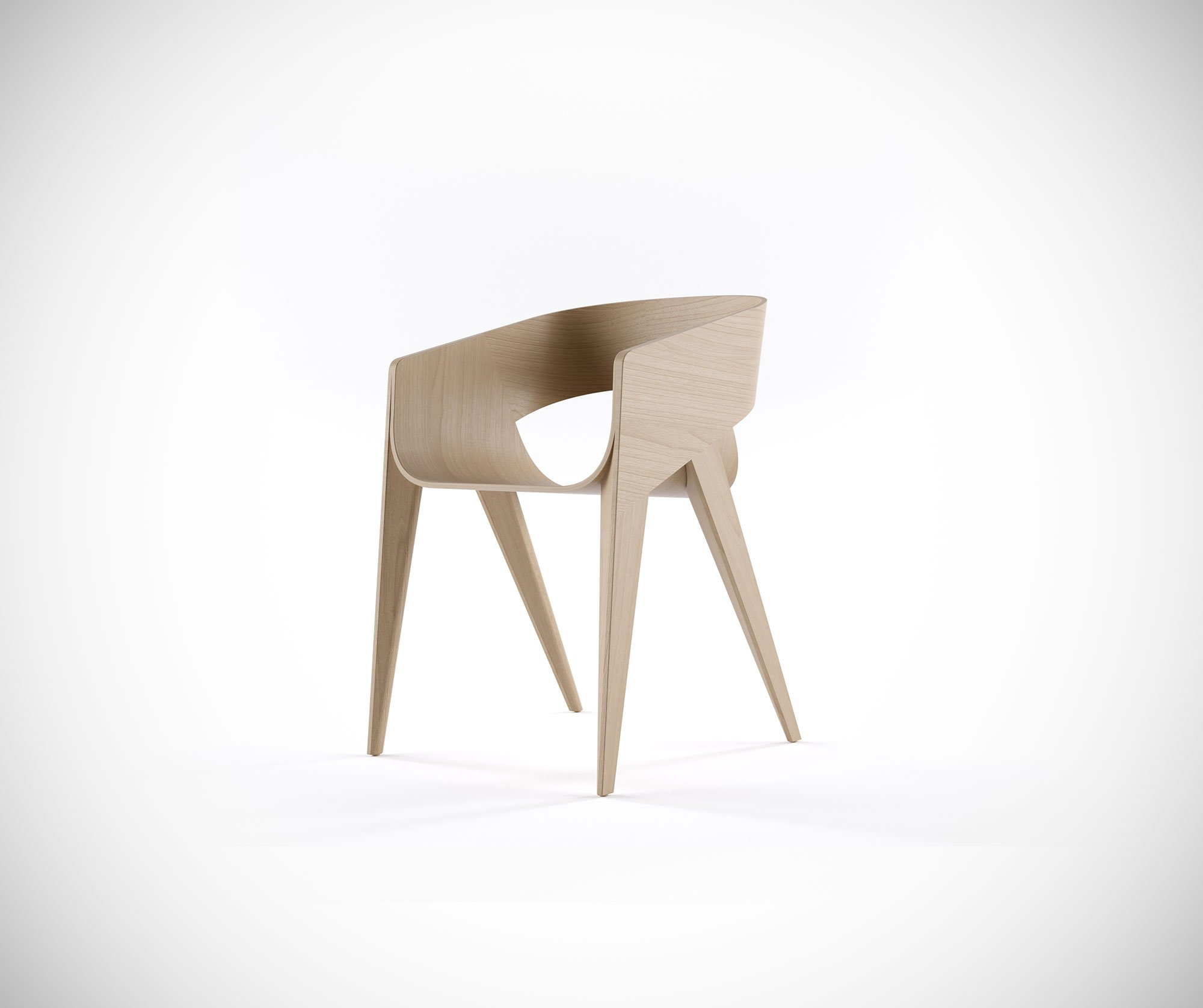 Most Comfortable Accent Chairs The Elegant And Minimalist Slim Chair By Christophe De Sousa