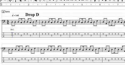 PowerTabEditorで4弦TAB譜を5弦TAB譜にすると音が出ない問題
