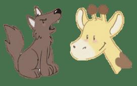 Girafe et Chacal