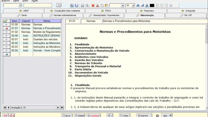 Biblioteca de Normas Técnicas e Regulamentos Internos