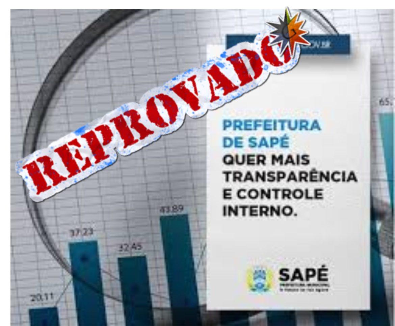 EXCLUSIVO – Portal da Transparência da Prefeitura de Sapé recebe nota 4,45 do TCE-PB