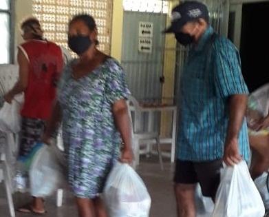 Parcerias entre AABB-Sapé, Cedams e Governo do Estado resulta na distribuição de 100 cestas básicas em Sapé